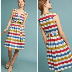 Anthropologie Fit & Flare Gingham Dress